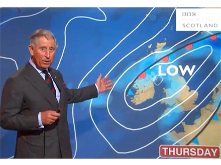 Prince Charles BBC Weather Report