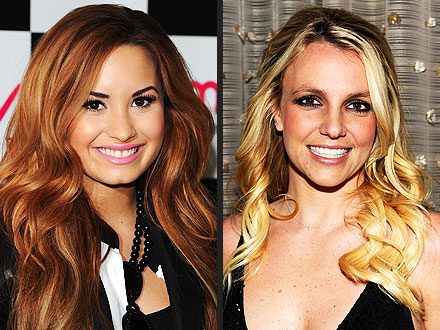 Britney Spears, Demi Lovato on X Factor