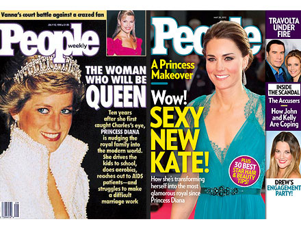 Princess Diana 1990 PEOPLE Magazine Cover, Kate in 2012