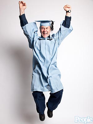 Janitor Gac Filipaj Graduates from Columbia