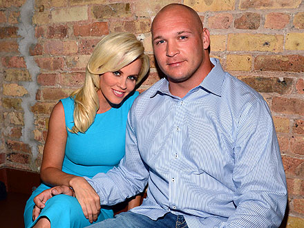 Family photo of the American Football player, married to Jenny McCarthy, famous for Chicago Bears.