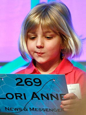 National Spelling Bee's Youngest Competitor is Lori Anne Madison, 6