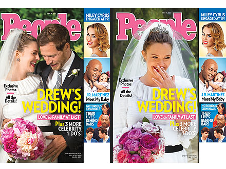 Drew Barrymore's Wedding Is on the Cover of PEOPLE – Two Ways