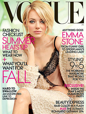 Emma Stone in Vogue: I Have a History of Panic Attacks