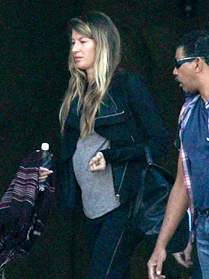 Gisele Bundchen Pregnant Pictures