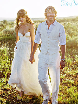 Eric Christian Olsen, Sarah Wright Wed