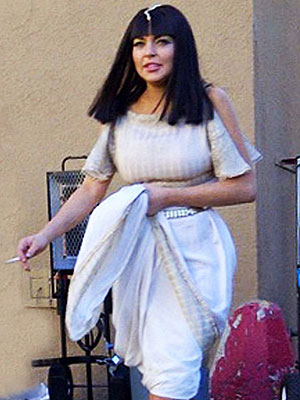 Lindsay Lohan in Liz & Dick; See Her Dressed as Cleopatra