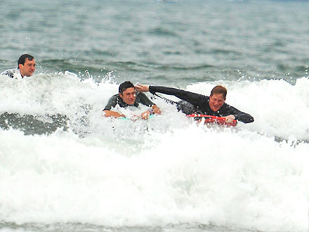 Prince William, Prince Go Surfing in Cornwall