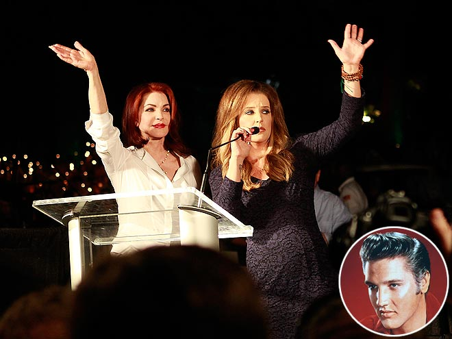 Elvis Presley's Death: Priscilla and LIsa Marie Attend 35th Anniversary Vigil