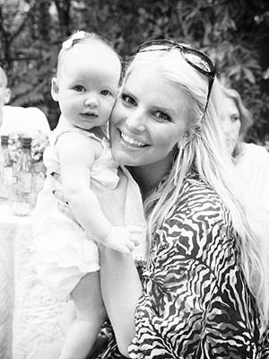 Jessica Simpson Shows Off Baby Maxwell on Fiancé's Birthday