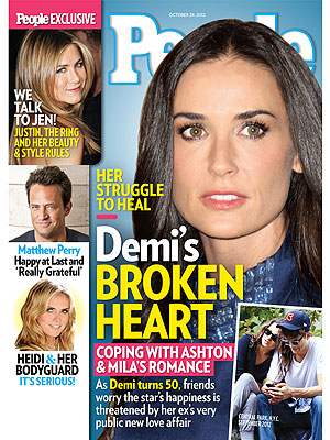 Demi Moore 'Jealous & Frustrated' by Ashton Kutcher's Relationship with Mila Kunis