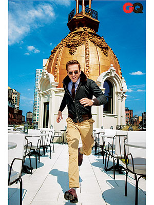 Damian Lewis, Homeland Star, Rocks a Bomber Jacket