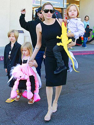 Angelina Jolie and the Kids Gear Up for Halloween