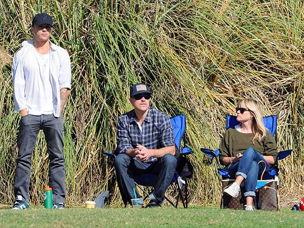 Reese Witherspoon, Husband Jim Toth Watch Soccer with Ex Ryan Phillippe