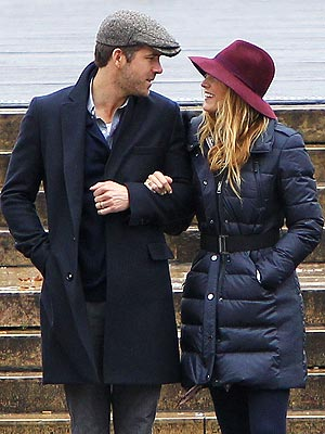 Blake Lively, Ryan Reynolds Kiss in Paris