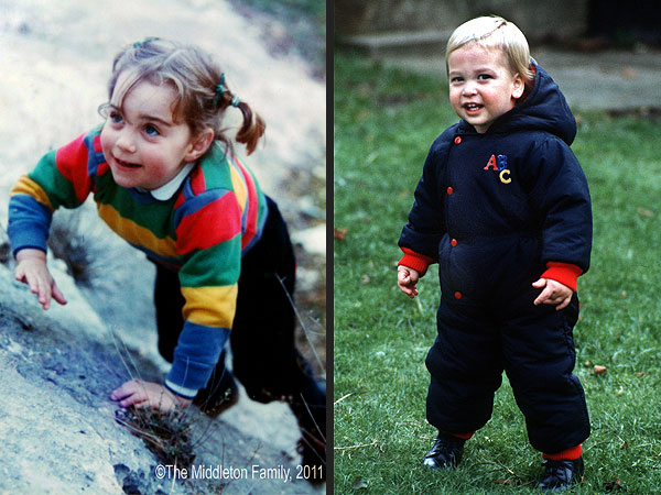 Kate Middleton Pregnant; See Kate & Prince William as Babies (Pictures)