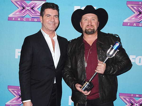 Tate Stevens Wins X Factor; Simon Cowell Happy for His Win