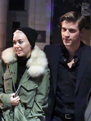 Miley Cyrus & Fiance Liam Hemsworth Pictures on Paranoia Set