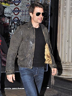 Tom Cruise Out in London with Son Connor Cruise: Pictures