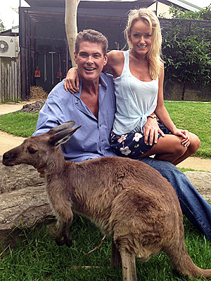 David Hasselhoff & Hayley Roberts Spend a Romantic Day at the Zoo