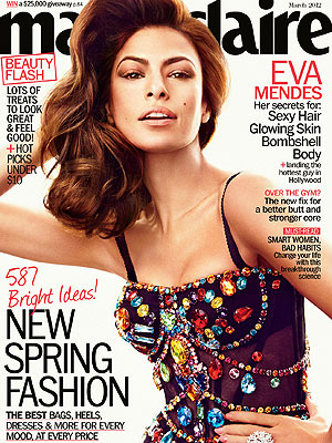 Eva Mendes Covers Marie Claire, Talks to Dog in French