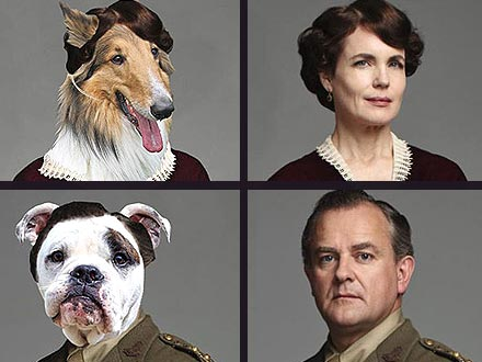 Downton Abbey Characters as Dogs