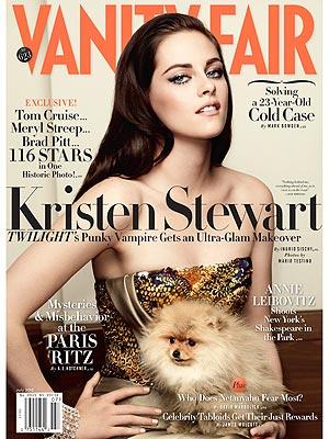 Kristen Stewart in Vanity Fair with Dog: Photo