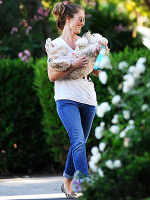 Minka Kelly Picks Up Dog Chewy: Photo