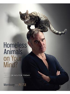 Morrissey Stars in New PETA Ad