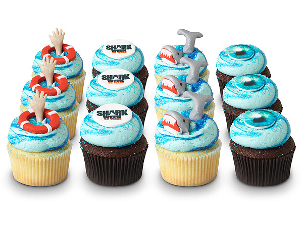 Open Your Jaws for a Shark Week Cupcake
