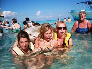 Photobomb! Stingray Just Wants to Be in Your Vacation Album, Ladies