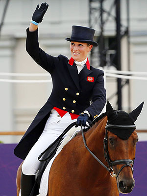 Zara Phillips Finishes Olympics Equestrian Event