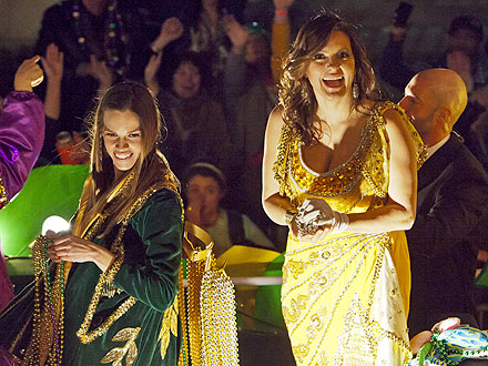 Mardi Gras: Mariska Hargitay & Hilary Swank Celebrate in New Orleans