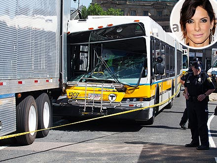 Sandra Bullock's New Film the Scene of a Bus Accident