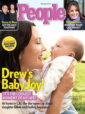 From the PEOPLE Archive: Drew Barrymore Introduces Daughter Olive