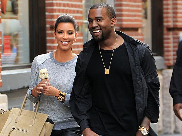 Kim Kardashian Pregnant with Kanye West's Baby; Couple Gets Frozen Yogurt