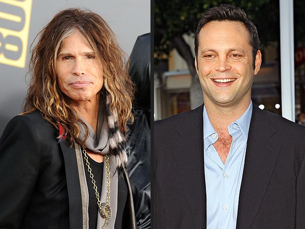 Steven Tyler & Vince Vaughn's Near-Miss Hangout in West Hollywood