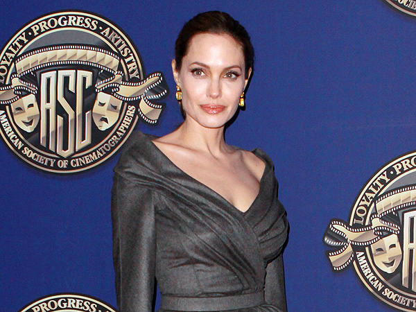 Angelina Jolie Looks 'Totally Peaceful' in Hollywood