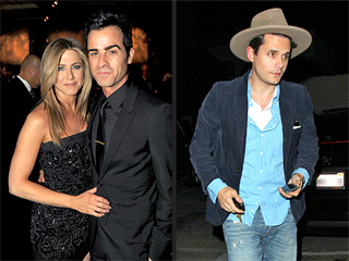 Jennifer Aniston & John Mayer Dine Two Tables Away From Each Other in West Hollywood   Jennifer Aniston, John Mayer, Justin Theroux