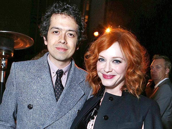 Christina Hendricks & Geoffrey Arend's Date Night with Michael Cera