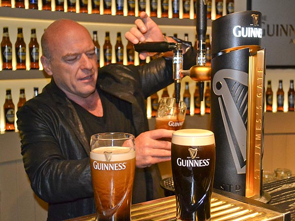 Breaking Bad's Dean Norris Has 'Epic' Time in Dublin Learning to Pour the Perfect Pint