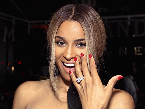 Ciara's 15-Carat Sparkler Takes Center Stage in Houston