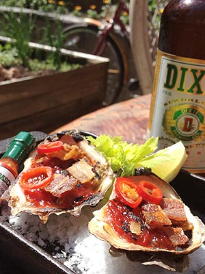 Oysters with Bacon and Barbecue Sauce Recipe