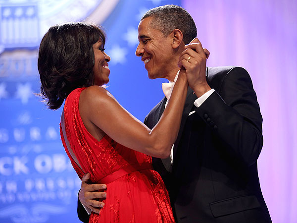 Barack Obama & Family Party at Star-Studded Post