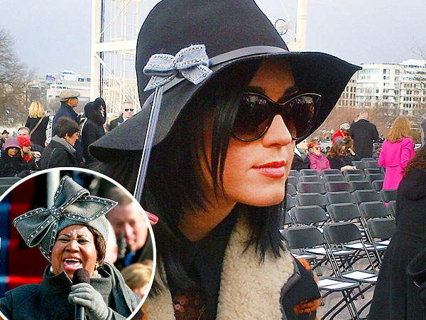 Katy Perry Channels Aretha Franklin at Inauguration