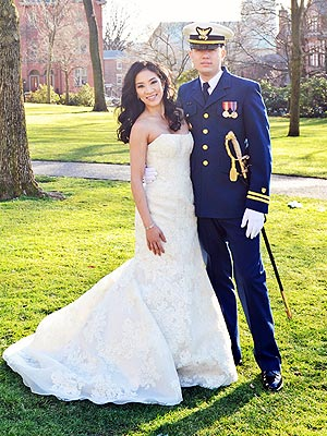 Michelle Kwan Wears Vera Wang Wedding Dress