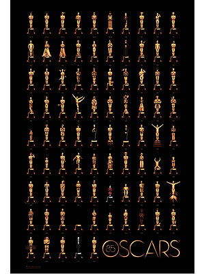 Oscar Statuette Strikes Best Picture Poses