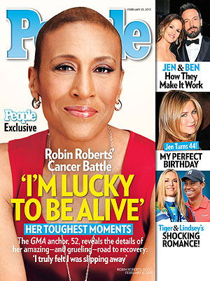 Robin Roberts Says She&#39;s Lucky to Be Alive