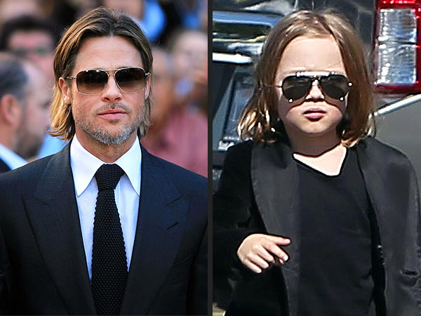 Knox Jolie-Pitt Steals Brad's Cool Look