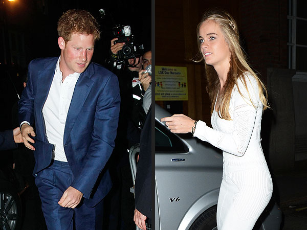 Prince Harry & Cressida Bonas Party at a Club in London